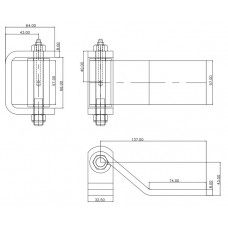43-B2426FSLL     5.850in. LONG HD HINGE