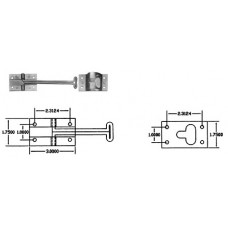 43-DH5006        6in. WIRE DOOR HOLD BACK W/