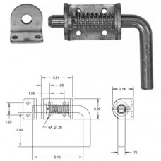 44-B2596LKB      3/4in. SPRING LATCH ASSY W/