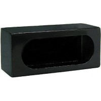 44-LB383    Light Box, Single Oval, Black Powder Coated