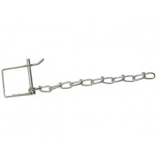 """44-P11C       SAFETY PIN 1/4"""" w/Chain"""