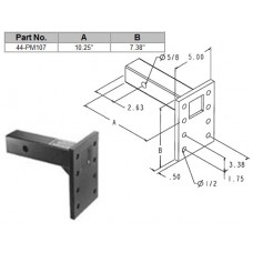 "44-PM107         PINTLE MOUNT 7"" PLATE"