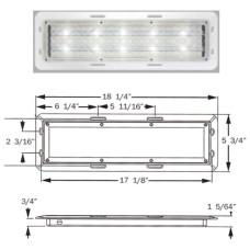 49-ILL10CCB      6 x18.25 RECT LED HO DOME