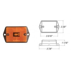 49-MC-35AB       AMBER FLUSH MOUNT 1-BULB