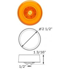 49-MCL-157AB     GLO AMBER 2.5in. ROUND LED