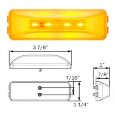 49-MCL-165AB     GLO AMBER 1x4 LED 10 DIOD