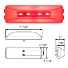 49-MCL-165RB     GLO RED   1x4 LED 10 DIOD