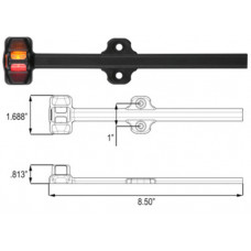 49-MCL-180ARB    LED AMBR/RED Fender light assembly