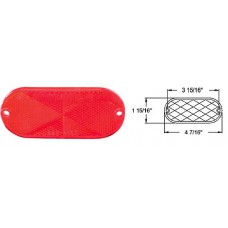 49-RE-11RB       RED   REFLECTOR OBLONG