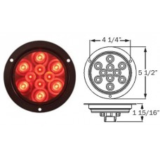 49-STL-42RB      RED 4in. FLNG LED 10 DIODES