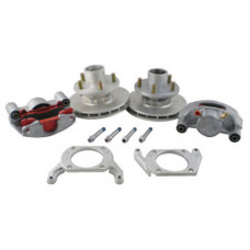 "52-2H-83DDDD-SB  Kodiak 3500 lb 8"" Integral Hub/Rotor Disc Brake Kit Dacromet Coated"