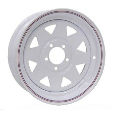 "61-017-142-14   DEXSTAR 14""x5.5 TRAILER RIM WHITE SPOKE"