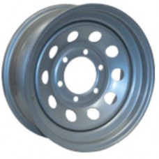 "61-017-310-14   16"" x 6"" MINI-MOD White Trailer Wheel"