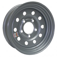 "61-12M5S  12"" x 4"" 5 on 4.5"" Silver MOD Trailer Rim"