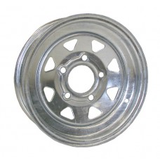 "61-12S5G  12""x4"" 5 bolt Galvanized Spoke Trailer Rim"