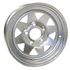 "61-13S5G    13"" x 4.5"" 5 bolt GALVANIZED SPOKE Trailer Wheel"