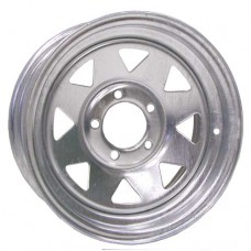"61-14S5G  14"" x 6"" 5 bolt Galvanized Spoke Trailer Rim"