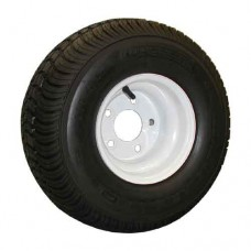 62-215TW60C  215/60-8 Trailer Tire on White Steel Wheel