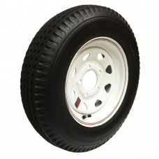 62-480-12-5C    480-12 C LOADSTAR Trailer Tire on 5 Bolt White Spoke Wheel