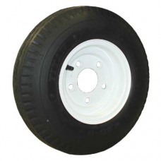 62-480-8-5-B     480-12 B LOADSTAR Trailer Tire on 5 Bolt White Spoke Wheel