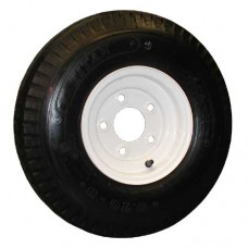 62-570-8-5-B     570-8 B LOADSTAR Trailer Tire on 5 Bolt White Wheel