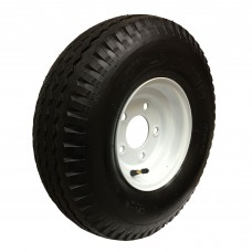 62-570-8-5-C     570-8 C LOADSTAR Trailer Tire on 5 Bolt White Wheel