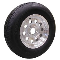 62-R14TW205A     ST205/75R14 GOODYEAR Trailer Radial Tire 5on4.5 Aluminum Mod Wheel