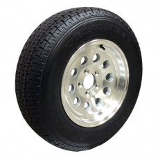 62-TR15W205A  ST205/75R15 TRIANGLE Trailer Radial Tire 5on4.5 Aluminum Mod Wheel