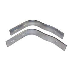 65-PLST-BRKT     PLASTIC FENDER BRACKETS.  PAIR ZINC FITS #65-PLAST .