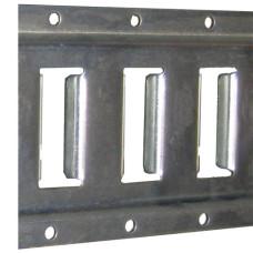 42-43001       E TRACK HORIZONTAL 12ga 10'  LONG GALVANIZED (Cannot be Shipped)