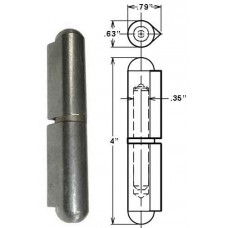 43-B5            WELD-ON 4in. STEEL W/BRASS