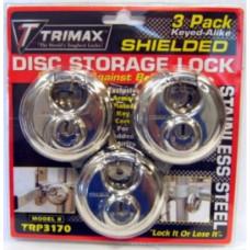 43-TRP3170       STAINLESS STEEL ROUND PADLOCK