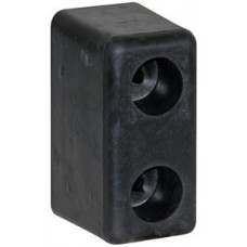 """44-B5500      Pair of  RUBBER bumpers 3"""" x 3.5"""" x 6"""""""