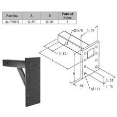 """44-PM812         2"""" PINTLE MOUNT 12"""" PLATE"""