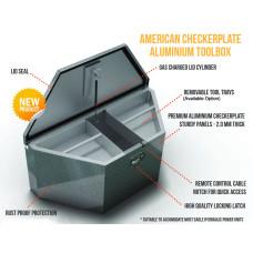 45-810200        A-FRAME BOX ALUMINUM CHECKER PLATE
