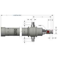 "45-C7T90E   EAGLE HYDRAULIC CYLINDER 7 ton  90"" 3 STAGE"