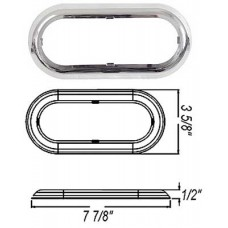 49-A-78CB        CHROME 6in. OVAL RING SNAP