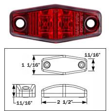 49-MCL-13RB      RED   LED LENSE  2   BULB