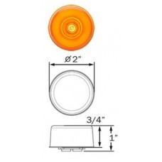 49-MCL-155AB     GLO AMBER 2in. ROUND LED
