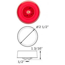 49-MCL-157RB     GLO RED   2.5in. ROUND LED