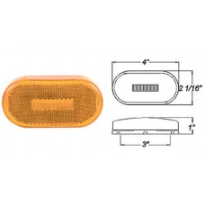 49-MCL-31AB      4in. AMBR OVAL MRKR SNP LNS