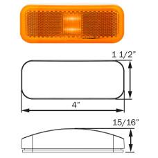49-MCL-40AB      1.5 x 4 AMBER LED