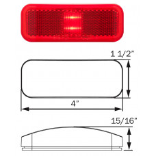 49-MCL-40RB      1.5 x 4 RED   THIN 2 LED