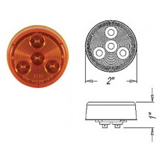 49-MCL-55AB      2in. AMBER LED ROUND LIGHT