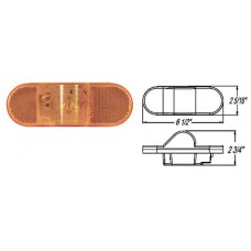 49-ST-75AB       6in. AMBER OVAL MID-SHIP