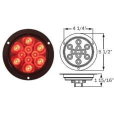 49-STL-42RB      RED 4in. FLNG LED 10 DIODES