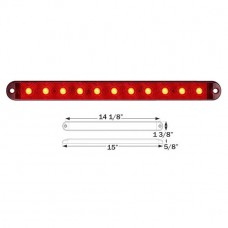 49-STL-69RB      RED THINLINE LED 11 DIODE