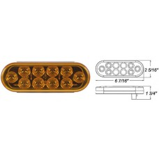 49-STL-72AB      AMBER 6in. OVAL  10 DIODES