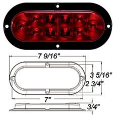 49-STL-78RB      RED 6in.OVAL LED FLNG MOUNT