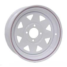 """61-12S4   12"""" x 4"""" 4 bolt White Spoke Trailer Rim"""